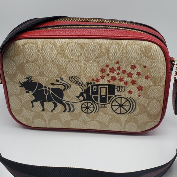 Coach Signature Ox and Carriage Jes Camera Bag